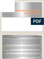 Affiliate Marketing Method - What's CPA