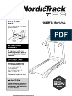 NORDICTRACK T 6.3 treadmill Manual