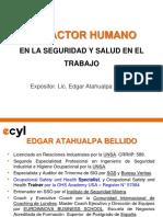 El Factor Humano en La Seguridad y Salud en El Trabajo_1ra Sesión
