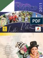 Calendario turistico del municipio de La Paz