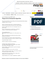 Etapas de La Formación Deportiva - Edicion Impresa - ABC Color
