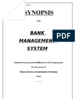 Bank Management System v.b Synopsis