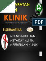 Salinan REVKEMENKES_SYARAT_and_IZIN_KLINIK_2017..pptx