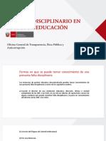 Ministerio de Educacion Regimen Disciplinario en Sector Educacion 201117