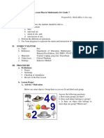Lesson Plan Math 7