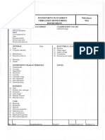 Format for Instrumentation Equipment Data Sheet