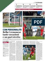 La Provincia Di Cremona 21-01-2019 - Con Personalità