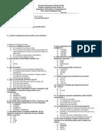 Examen Informatica  Primer Parcial