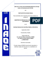 Medida de Permitividades Dieléctricas