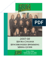 2007 Synchronized Swimming Media Guide