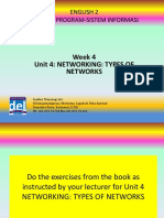 English 2 SI Week 4 Networking Types of Networks