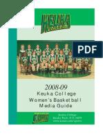 2008 Women's Basketball Media Guide