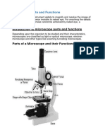 Microscope Parts and Functions