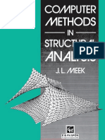 Computer Methods in Structural Analysis by J. L. Meek