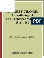 A Mighty Change; An Anthology of Deaf American Writing [156368098X]