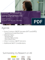 UBAX007 - Mastering Scheduling in Dynamics AX