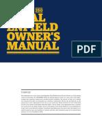 Thunderbird350 Owners Manual Domestic