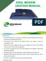 ADSL Configuration Manual