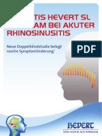 Studienfolder Sinusitis Hevert SL