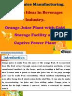 Orange Juice Manufacturing