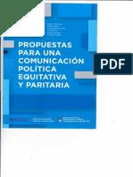"""""""Propuestas para una Comunicación Política Equitativa y Paritaria"""""""