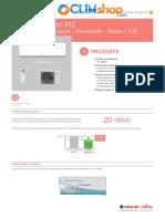 Takao M2 Climatiseur réversible inverter Fujitsu Atlantic R32