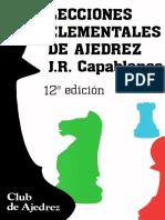 Capablanca Jose Raul - Lecciones Elementales de Ajedrez, 1987-OCR, 159p