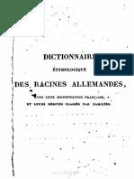 Dictionnaire Étymologique Des Racines Allemandes