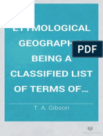 Gibson Etymological Geography