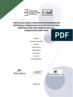 Guia-salud-laboral - Guía de Orientación Para El Reintegro Laboral de Trabajadores-As Con Diagnóstico de Patología Mental Calificado de Origen Laboral