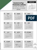 Calendario de Pago de Jubilados y Jubilados - Panama - 2019