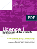 Livret d Accueil en Licence 1 VALENCE