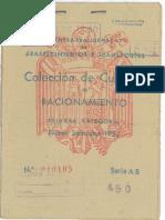 Cartilla de racionamiento 1952