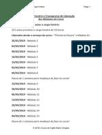 Cronograma dos Mo´dulos - Turma Janeiro