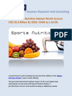 Sports Nutrition Market By Acumen Research and Consulting