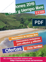 CCOO Folleto Ocio y Tiempo Libre 2019