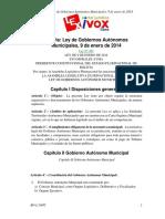 Ley de Gobiernos Autonomos Municipales
