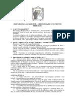 Regulamento Oficial Da Ipjl Para Casamentos Na Igreja