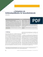 Interkulturelle Kompetenz als Schlüsselqualifikation für Gesundheitsberufe