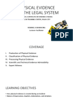Forensic Studies Module 2 - Physical Evidence & the Legal System