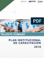 Plan de Capacitacion 2018