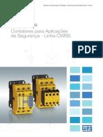 WEG Contatores Para Aplicacoes de Seguranca Cwbs 50070265 Catalogo Portugues Br