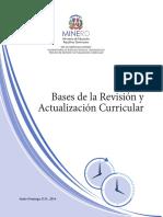 Bases de la revision y actualizacion curricular