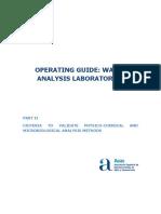 Operating Guide. Water Analysis Laboratories. Part II