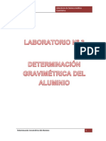 Determinación Gravimétrica Del Aluminio