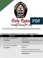 Duty Report 08-01-2019