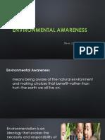 Environmental Awareness Alternative Energy Resources