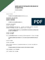 7 Reglas Principales Para La Formación Del Plural en Inglés