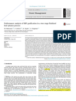 Performance analysis of RDF gasification in a two stage fluidized bed–plasma process