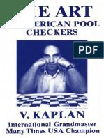 Kaplan the Art of American Pool Checkers 1983